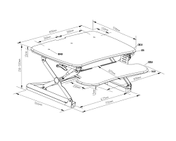 Desk Measurements Arise Deskalator Ausergo