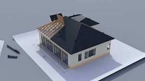 Hipped Roof House Building A House With A Hip Roof Time Lapse 3d Animation Of House