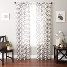 Geometric Pattern Curtains Amazing Of White Curtains With Gray Pattern Inspiration With Best