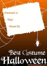 certificate templates best halloween costume