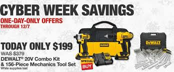 home depot dewalt drill black friday cyber monday deal dewalt 20v max drill impact driver and