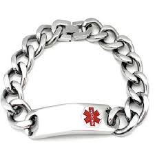 silver stainless steel bracelet images Mens id alert stainless steel bracelet jpg