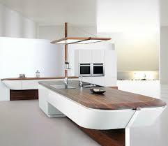 cuisines alno cuisine contemporaine en bois laqué en plaqué bois avec îlot
