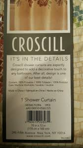 Croscill Home Curtains Rn 21857 by Croscill Mosaic Floral Shower Curtain Spice 70x72 Beige Tan Red