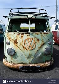 volkswagen old van vw volkswagen split screen bus camper van variant old and worn