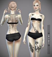 jennisims downloads sims 4 collectiontattoos tough sims 4