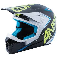 boys motocross helmet answer new youth mx 2017 ansr snx 2 white acid blue kids motocross