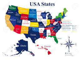 Alaska Usa Map by Usa Map With States And Capital Cities Royalty Free Cliparts