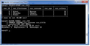 Alter Table Change Column Name Mysql Alter Table Javatpoint