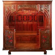 antique canopy bed antique chinese carved canopy bed with alcove for sale at 1stdibs