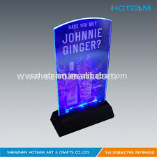 led light stand for crystal glass art flashing led light table display menu holder stand buy menu holder