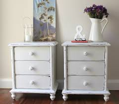 Shabby Chic Side Table Pair Of Shabby Chic Antique And Vintage White Bedside Table Made