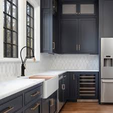 gray kitchen cabinets with white marble countertops 75 beautiful kitchen with marble countertops pictures