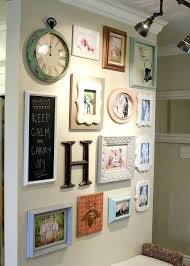 home interiors picture frames picture arrangements on wall with clock i the different