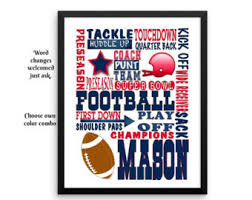 Engraved Football Gifts Football Poster Etsy
