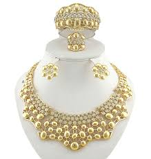 african gold necklace images Lovely designed african gold plated necklace earring bangle jpg