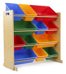 amazon com tot tutors kids u0027 toy storage organizer with 12 plastic