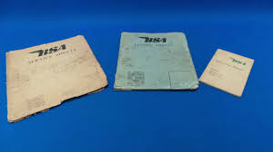 3 x vintage bsa service sheets u0026 instruction manual aa7 101 c10