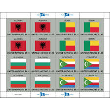 Flags Of Nations 2017 Flag Series U2013 Sheet 52 Un Stamps