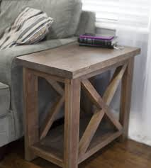 solid wood side table farmhouse style only 150 farmhouse