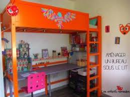 bureau sous mezzanine déco aménager un bureau sous un lit mezzanine par enfants nomades