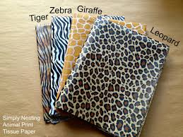 leopard print tissue paper 10 sheets animal print tissue paper sheets tiger zebra