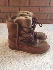 womens ugg lodge boot ugg australia s lodge leather boots chestnut 1007710 11 ebay