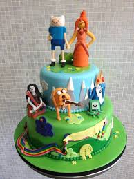 adventure time with finn u0026 jake wedding cake cake by over the