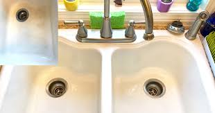 Kitchen Porcelain Sink How To Clean A Stained Porcelain Sink Bar Keepers Friend