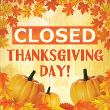 closed thanksgiving day west houston