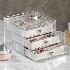 jewelry box necklace organizer images Interdesign 3 drawer jewelry earrings necklaces jpg