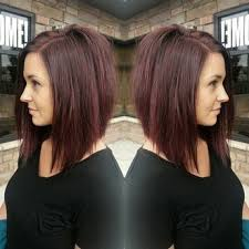 red brown long angled bobs and samantha from this morning with the perfect red brown shade