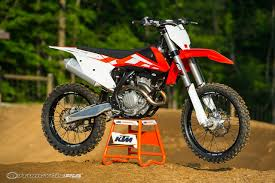 2016 ktm sx f motorcross first ride photos motorcycle usa