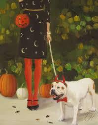 danielle and the devil figurative halloween print from original