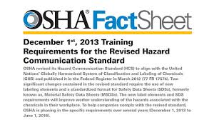 Ghs Safety Data Sheet Template Osha Publishes Fact Sheet For Hazcom 2012 And Ghs Adoption