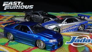 nissan skyline fast and furious 1 fast and furious brian u0027s blue nissan skyline gtr jada toys youtube