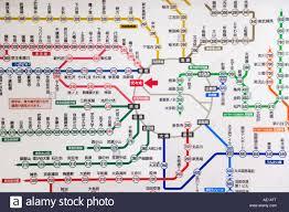 Tokyo Subway Map by Asia Japan Honshu Tokyo Tokyo Subway Ticket Machines Stock Photo