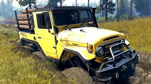 jeep kaiser 6x6 spintires 03 03 16 toyota fj40 6x6 stuck in the mud youtube