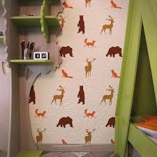 forest animals nursery wall stencils kids room wall stencil