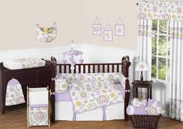 Jojo Crib Bedding Lavender And White Suzanna Baby Bedding 9pc Nursery Crib Set