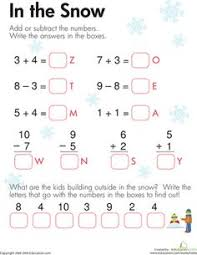 adding and subtracting worksheets printable first grade math