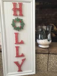 holly christmas decor string art on beadbord by cassidiescreations