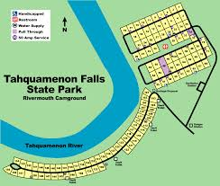 Michigan Campgrounds Map by Tahquamenon River Rivermouth Boat Launch Luce County Michigan