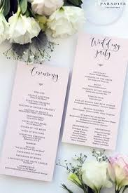 customized wedding programs wedding program template or printed wedding ceremony template