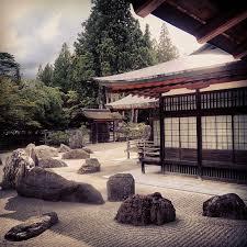 Rock Garden Japan Banryutei Rock Garden Kongobuji Temple Koyasan Japan Japanese