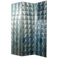louvered metal room divider in the manner of jean prouvé for sale