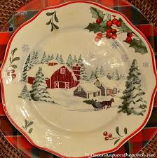 christmas dishes christmas table setting tablescape with plaid plates and a