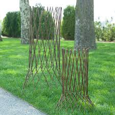 expandable willow column willow branches garden structures and