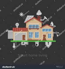 Smart Home Technology by Flat Design Style Vector Illustration Concept Stock Vector