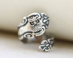Silver Spoon Jewelry Making - owl spoon ring etsy